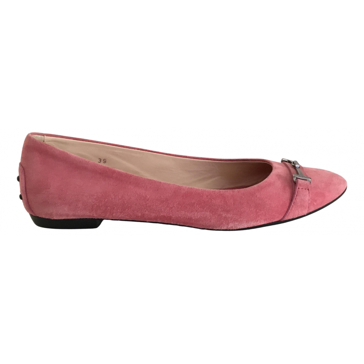 Tod's N Pink Suede Ballet flats for Women 39 IT