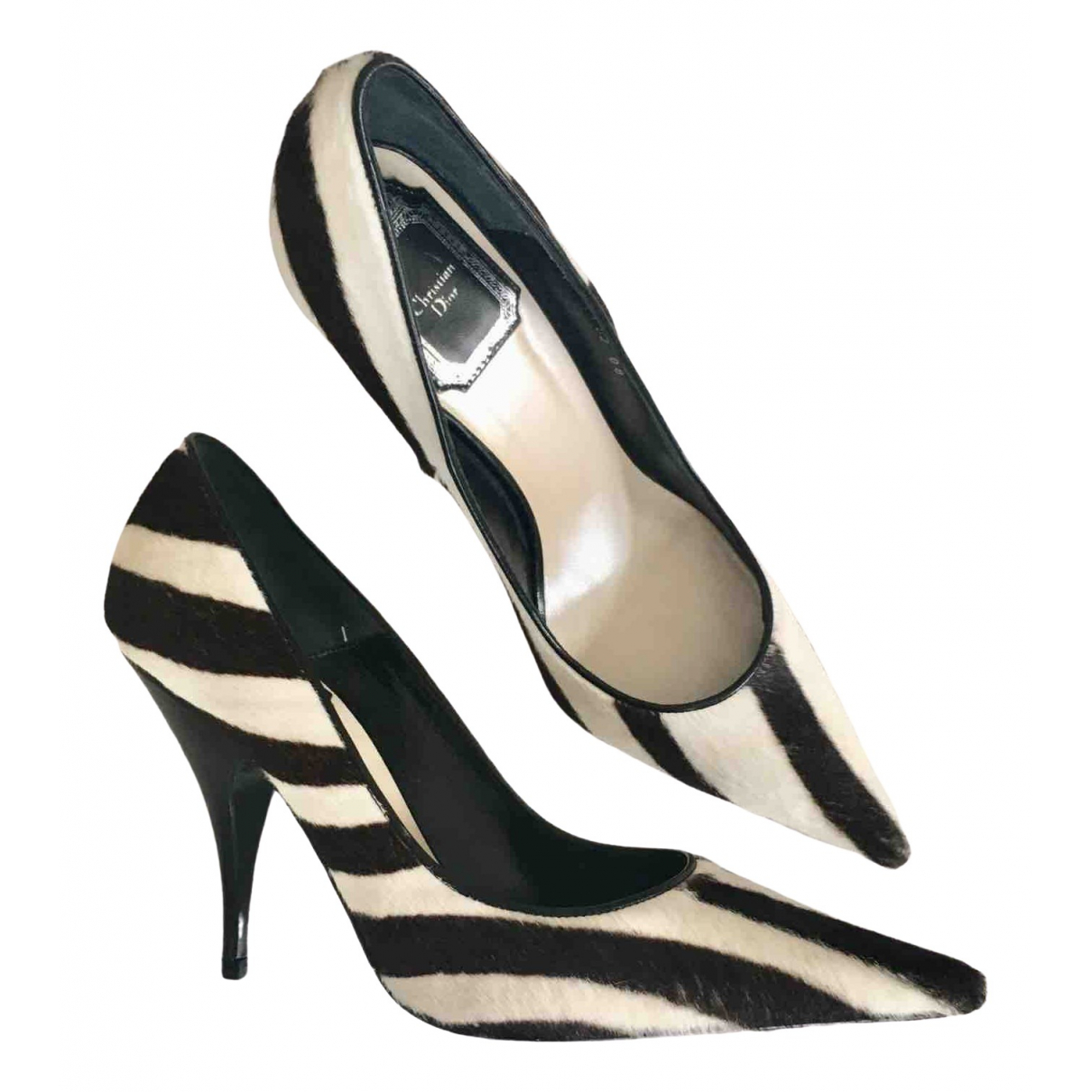 Dior \N White Pony-style calfskin Heels for Women 37 EU