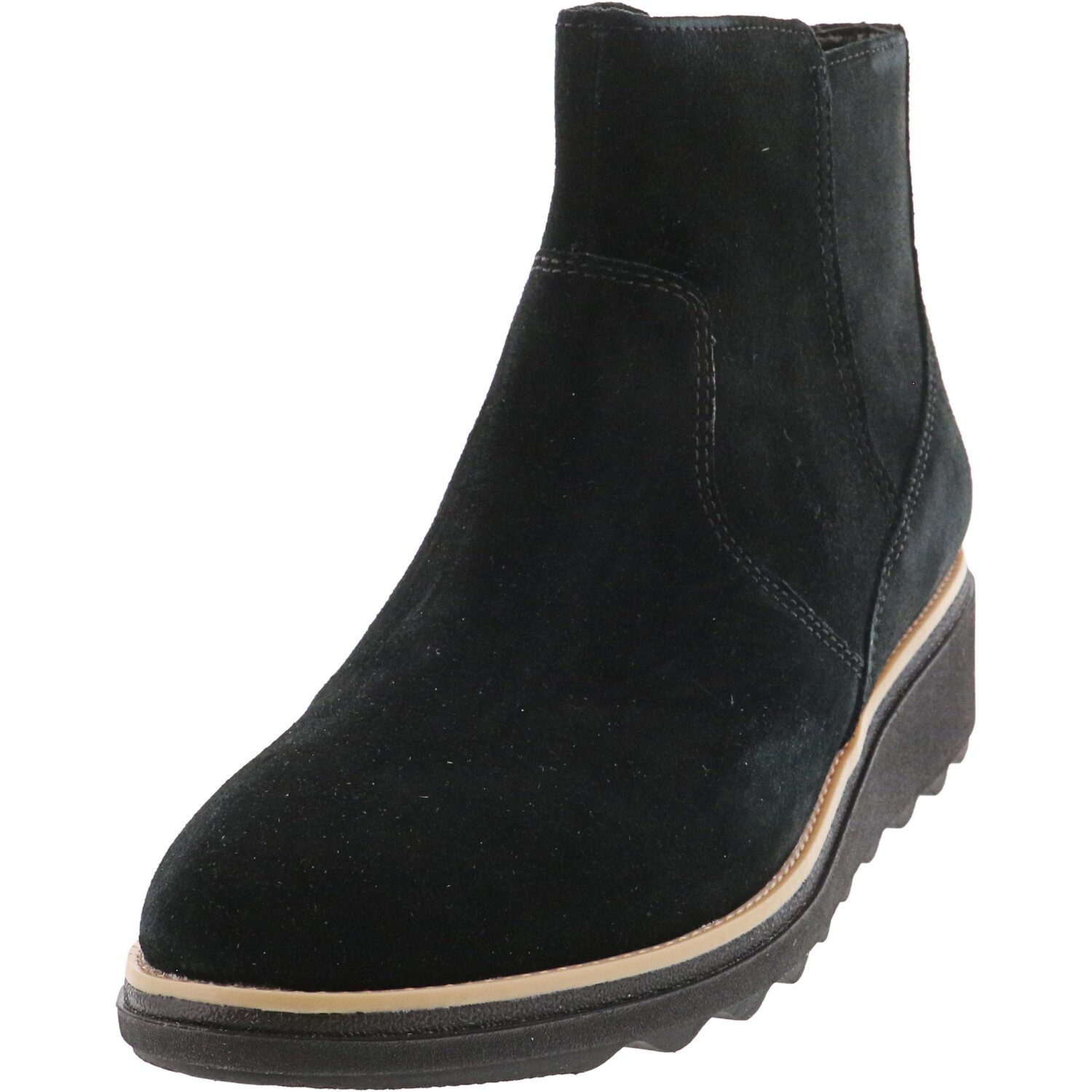 Clarks Women's Sharon Swing Suede Black Ankle-High Boot - 5.5M