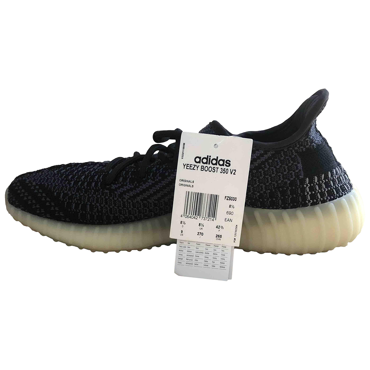Yeezy X Adidas - Baskets Boost 350 V2 pour homme en toile - anthracite