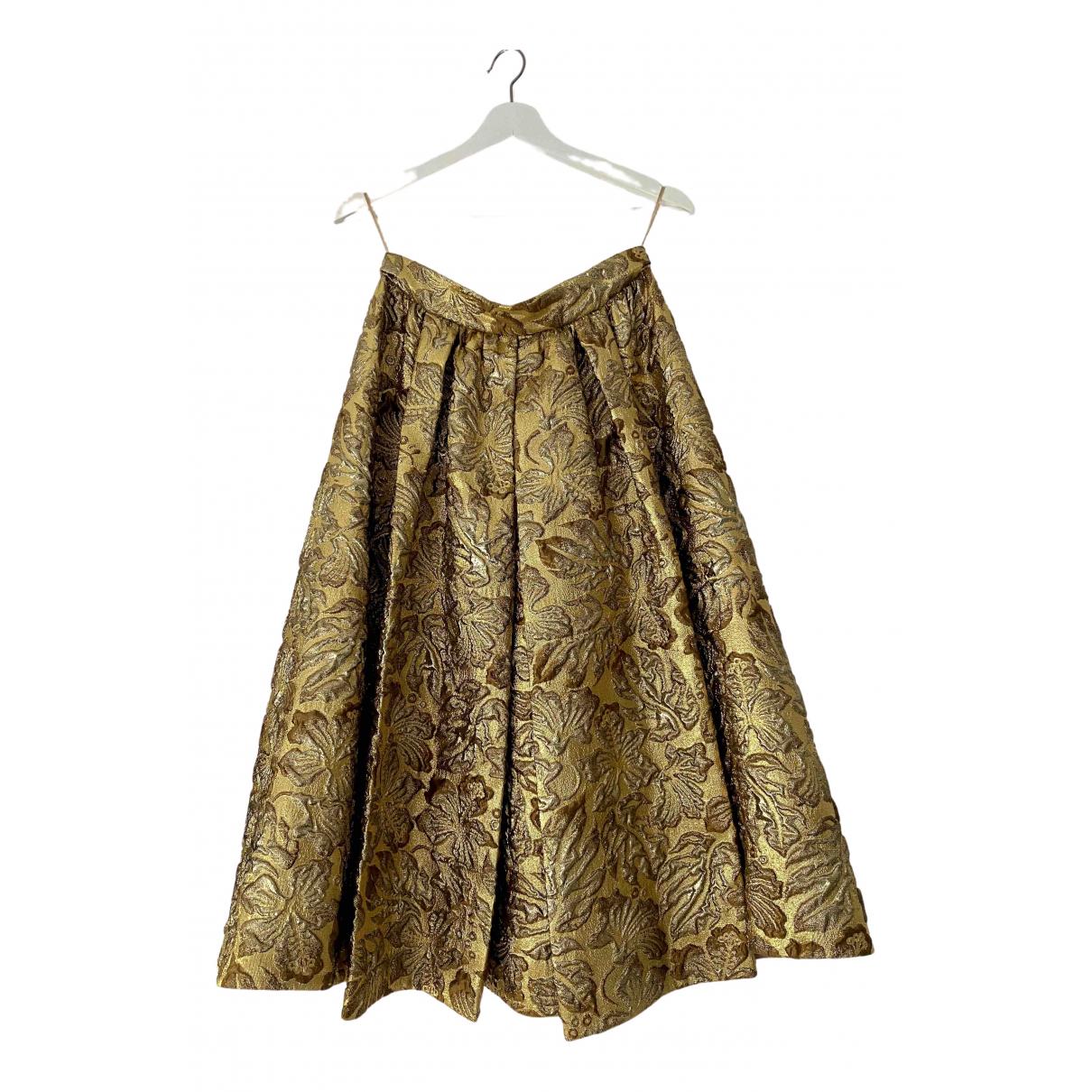Prada \N Gold skirt for Women 42 IT