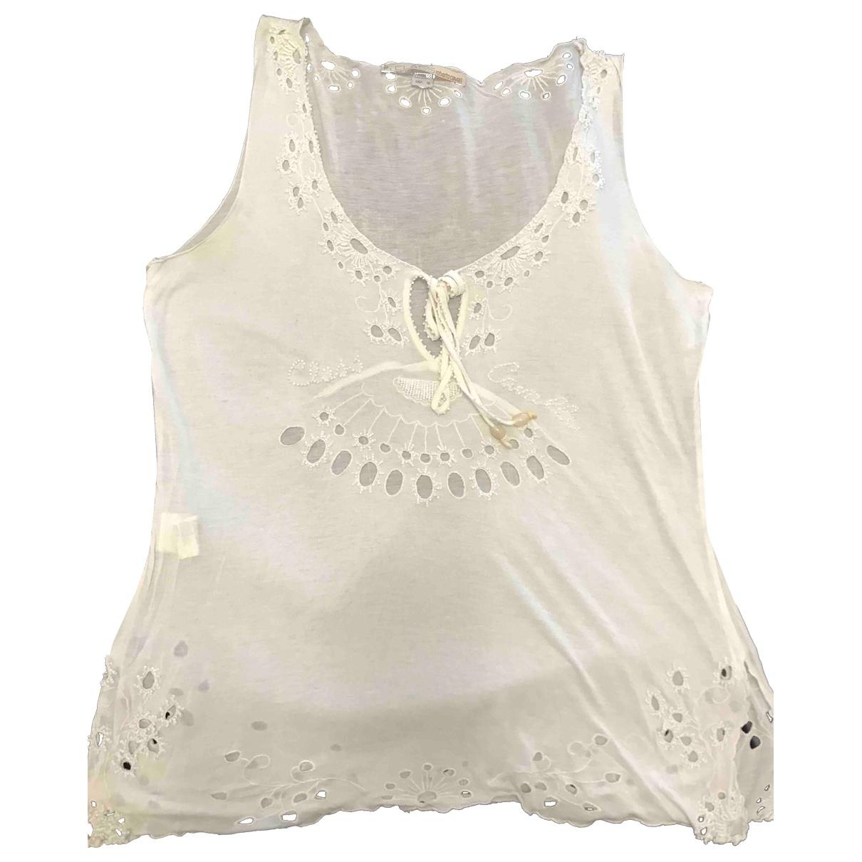 Class Cavalli \N White Glitter  top for Women 50-52 IT