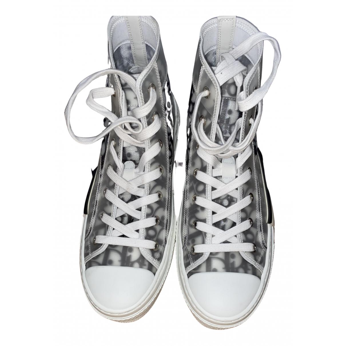 Dior Homme \N Sneakers in  Weiss Leinen