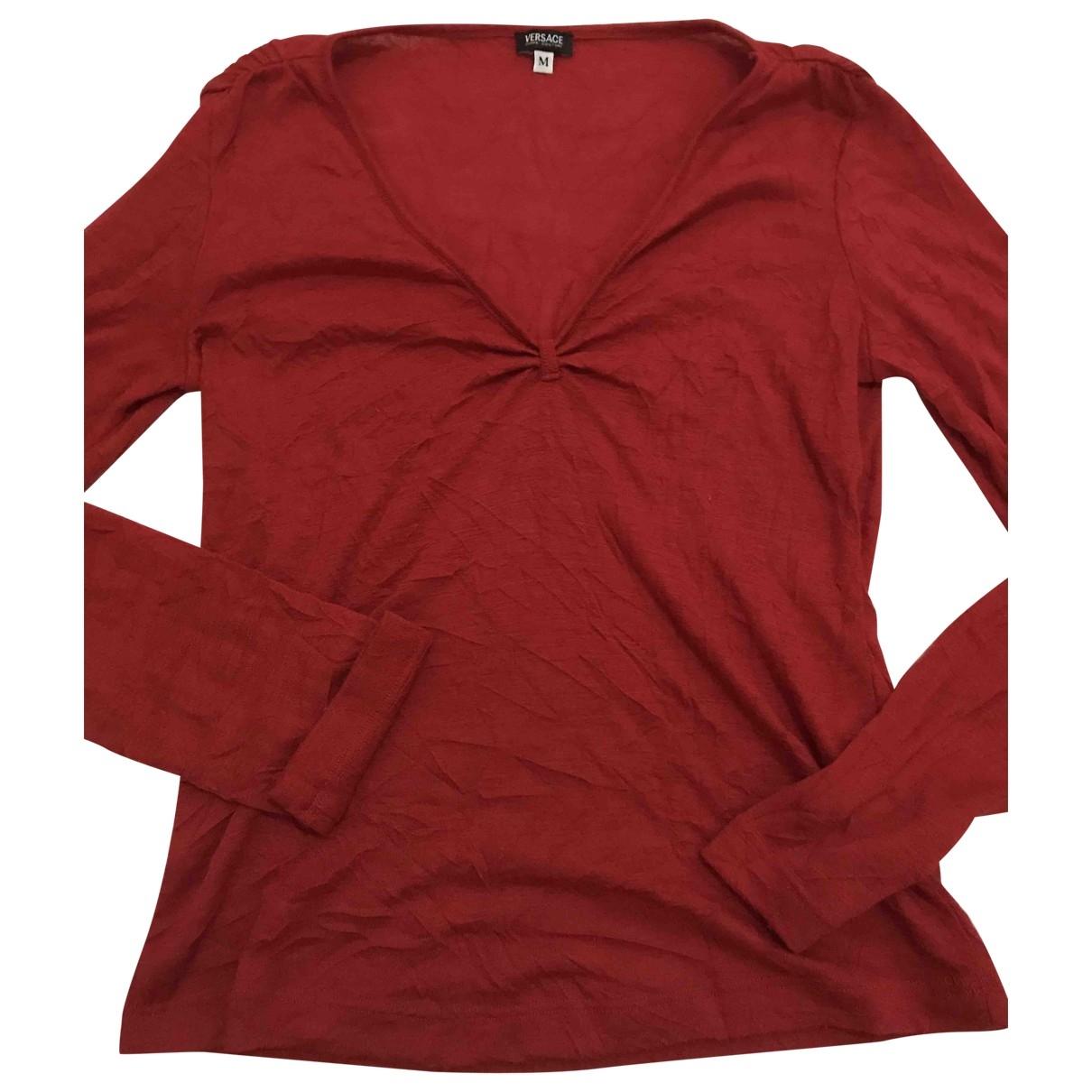 Versace Jeans \N Red Wool Knitwear for Women M International