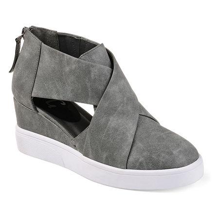 Journee Collection Womens Senna Sneaker, 7 Medium, Gray