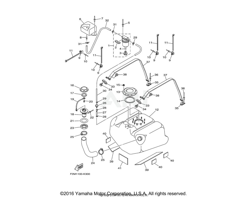 Yamaha OEM EU0-67767-31-00 CHECK VALVE