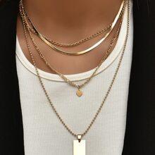 2 Stuecke Halskette mit Herzen Anhaenger