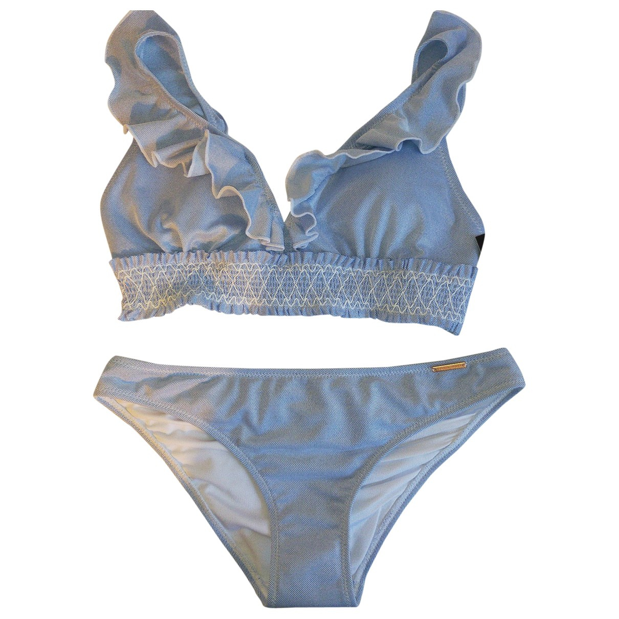 Non Signe / Unsigned \N Badeanzug in  Blau Polyester