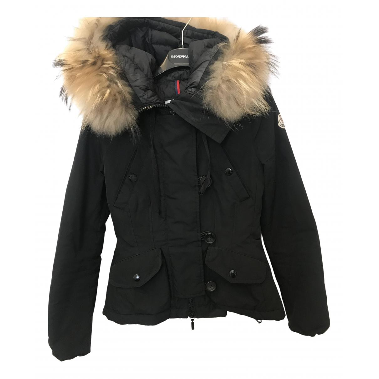 Moncler - Veste Fur Hood pour femme - noir