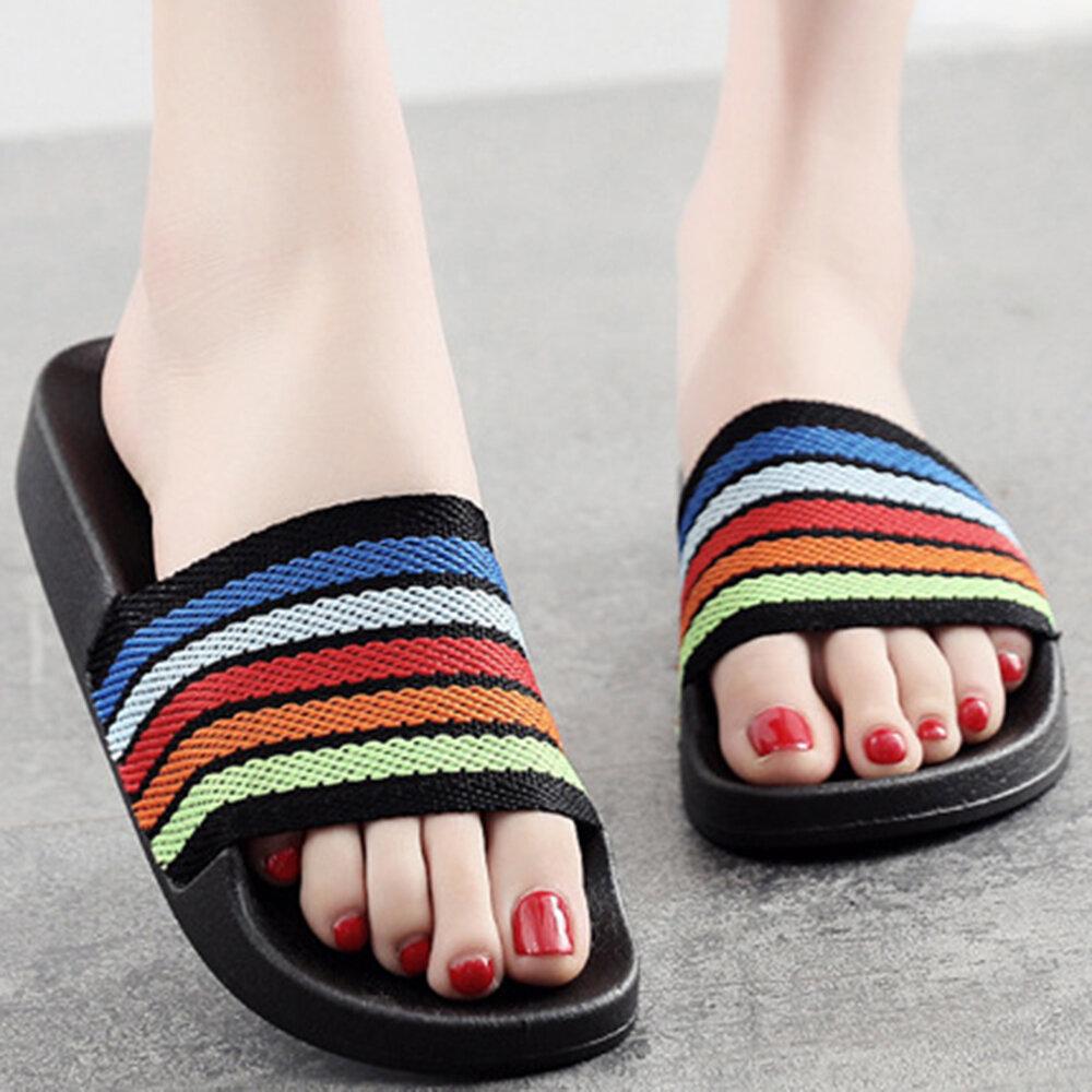 Women Colored Fringe Soft Bottom Flats Slippers
