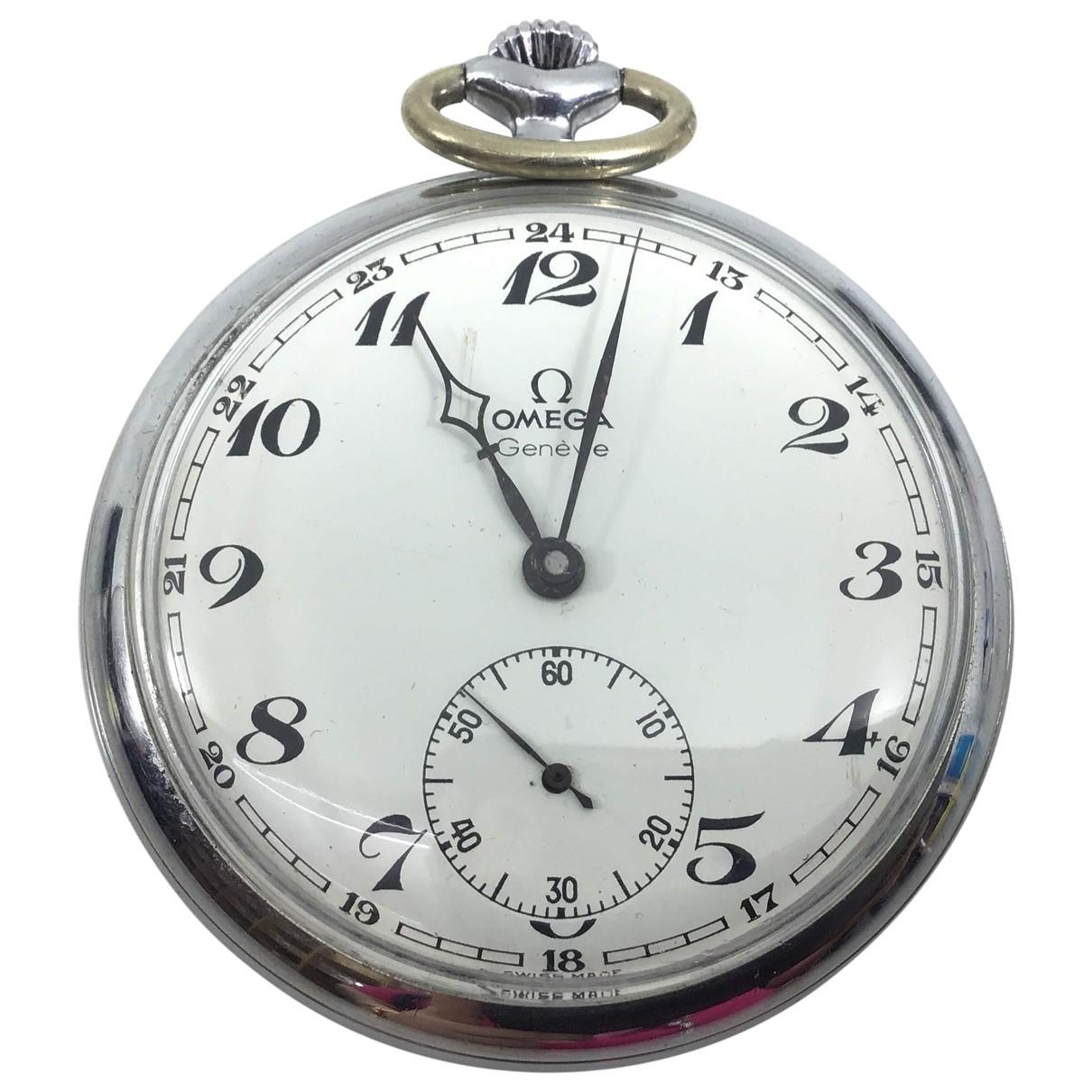 Omega \N Uhr in  Grau Stahl
