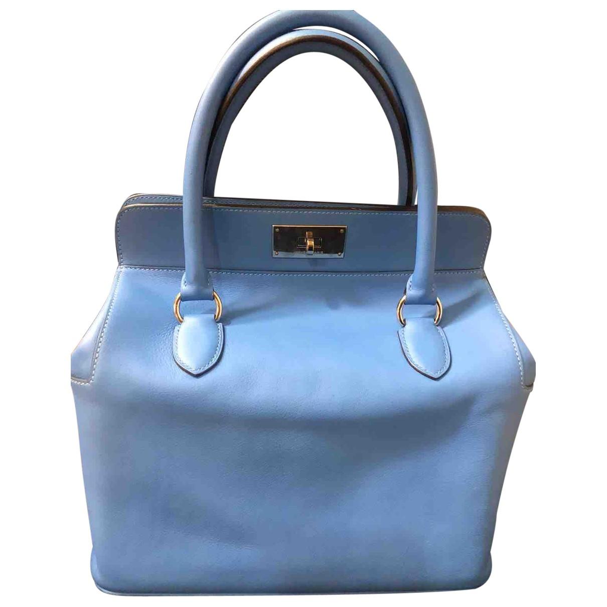 Hermès Toolbox Blue Leather handbag for Women \N