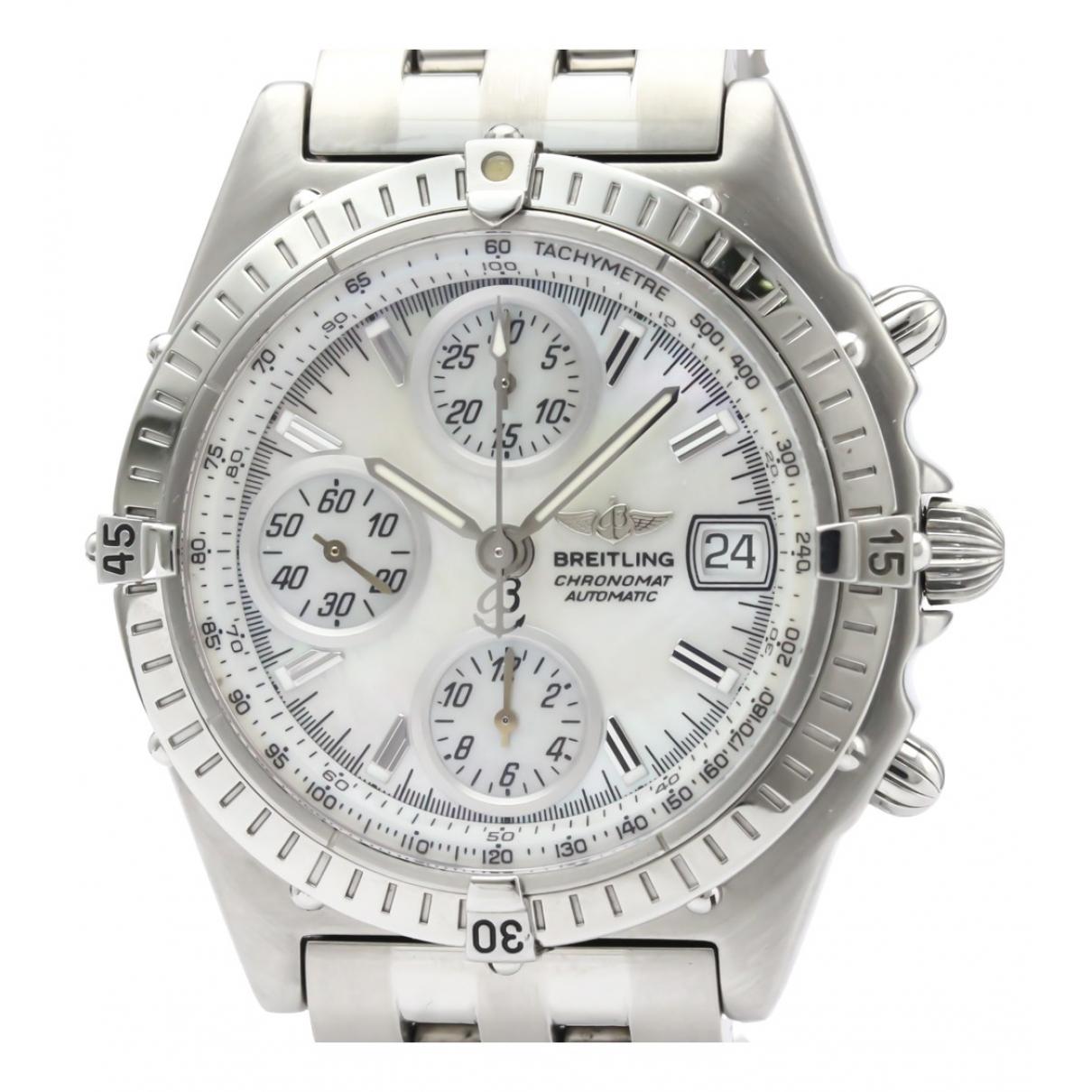 Breitling Chronomat Uhr in  Weiss Stahl