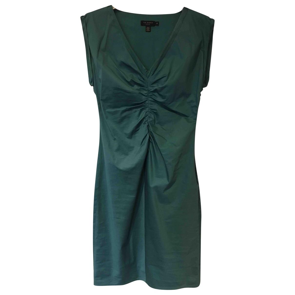 Ted Baker \N Kleid in  Gruen Baumwolle