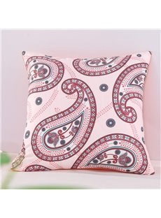 Orange Floral Paisley Pattern Exotic Style Decorative Square Polyester Throw Pillowcases