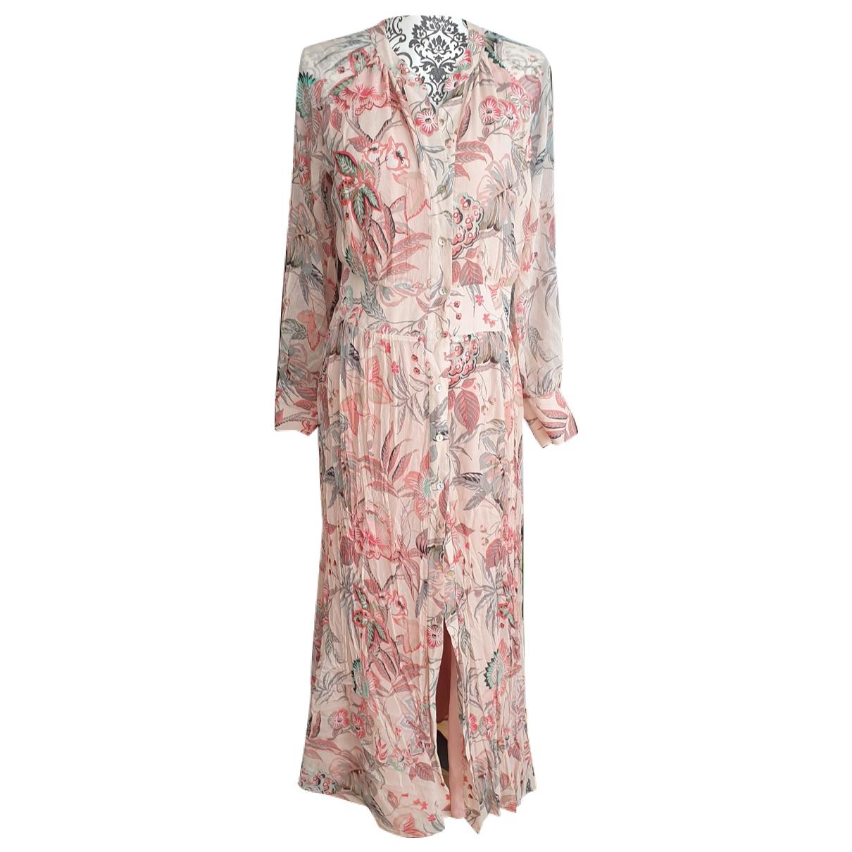 Massimo Dutti \N Kleid in  Rosa Seide