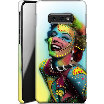 Samsung Galaxy S10e Smartphone Huelle - Woman With Pattern von Mark Ashkenazi