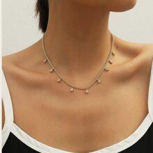 Halskette mit Wassertropfen Anhaenger