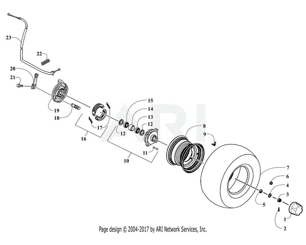 Arctic Cat OEM 3303-429 Tire Assembly Front (Kenda)