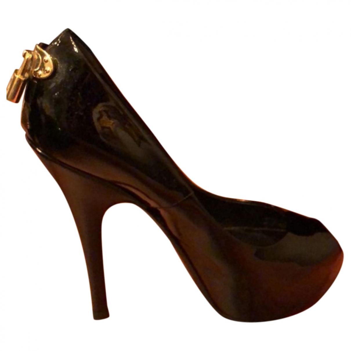 Louis Vuitton \N Black Patent leather Heels for Women 38 EU