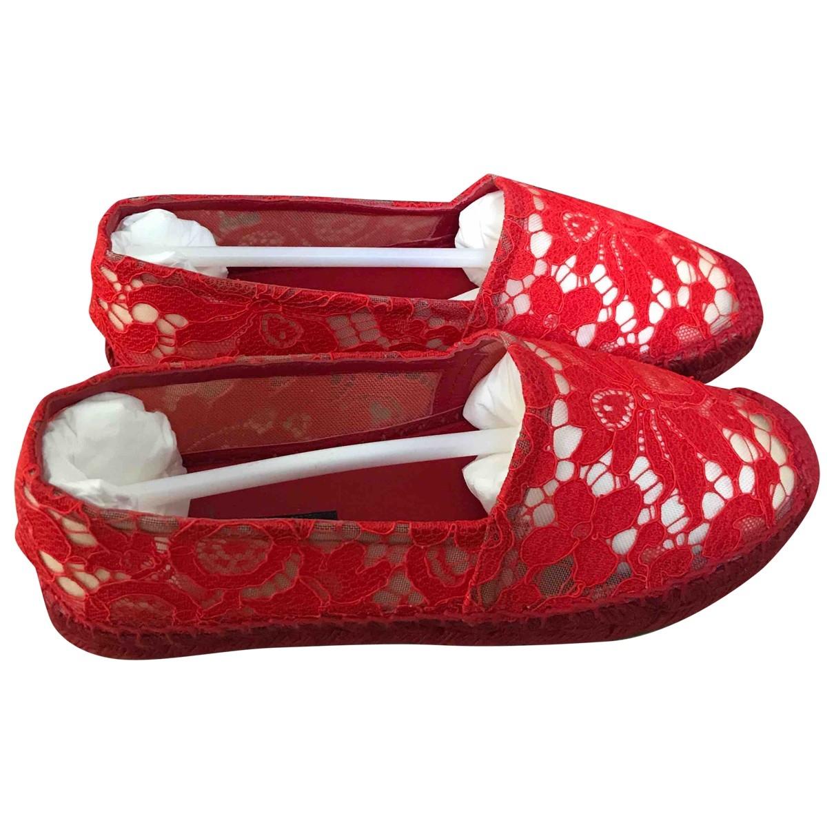 Dolce & Gabbana \N Red Cloth Espadrilles for Women 37 EU