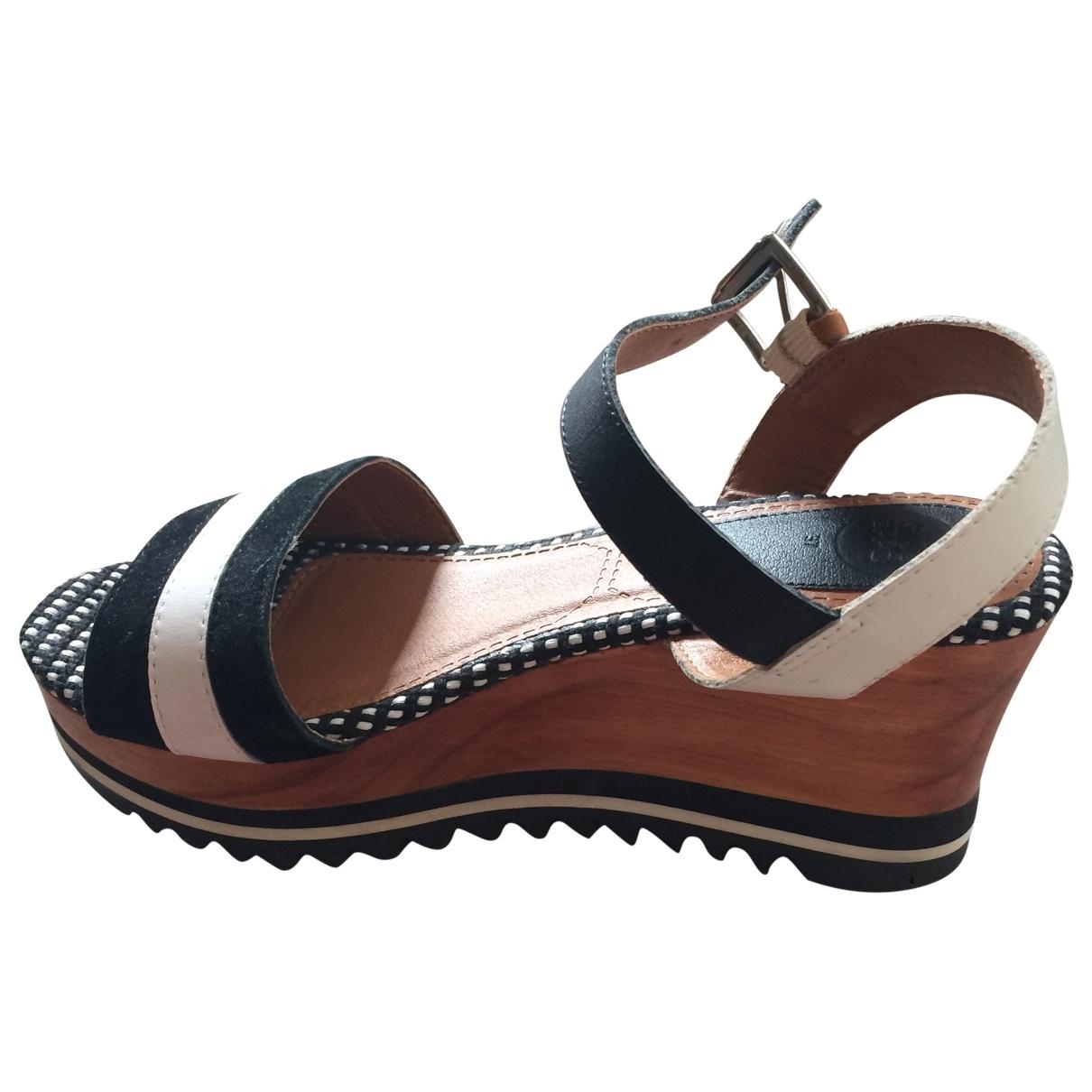 Gioseppo \N Black Leather Sandals for Women 37 EU