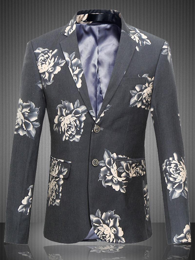 Ericdress Plus Size Print Men's Blazer