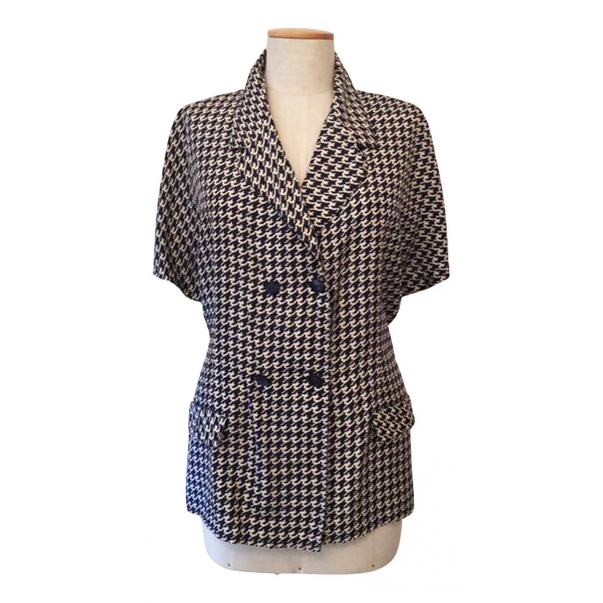 Trussardi - Top   pour femme en soie - bleu