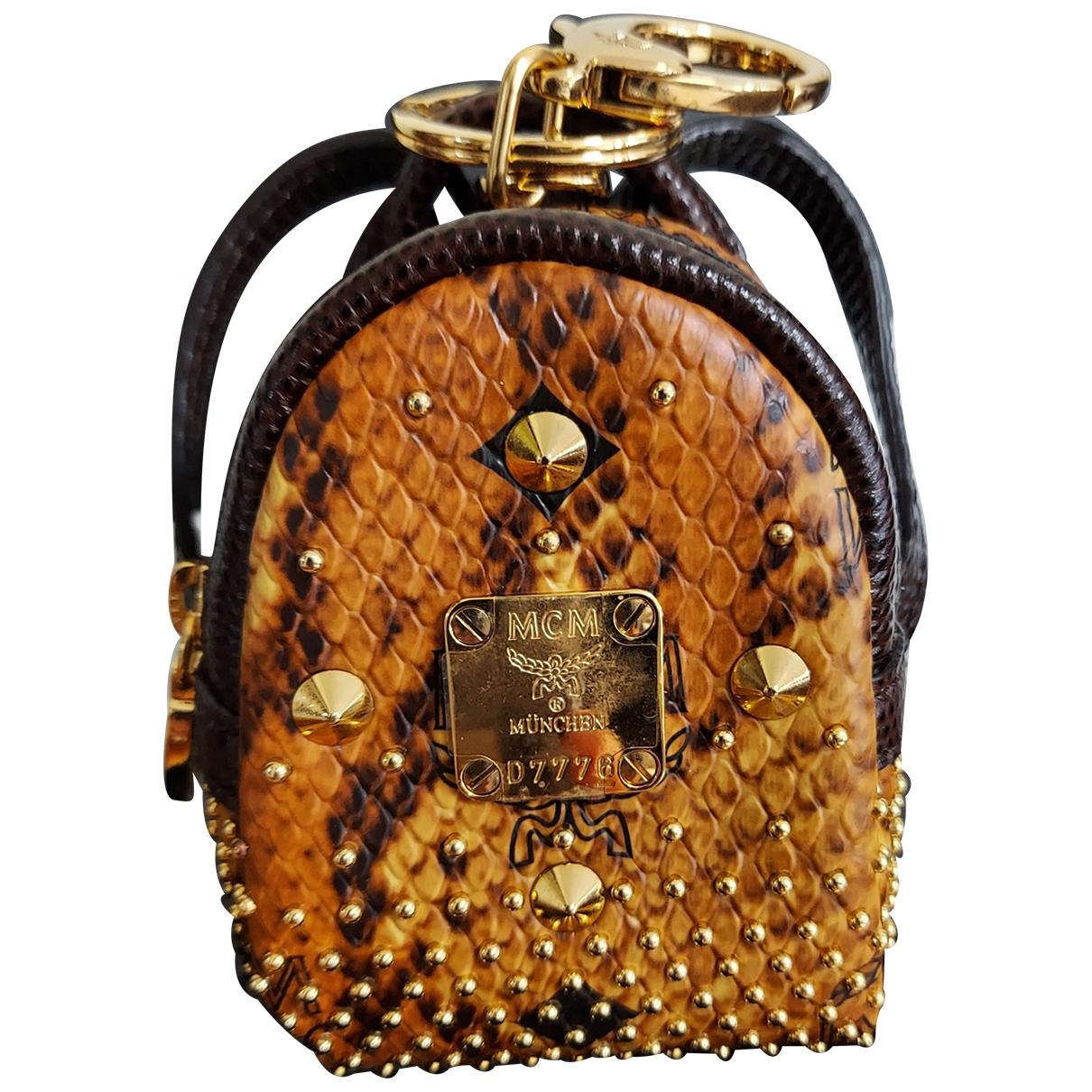 Mcm - Bijoux de sac   pour femme en cuir - marron