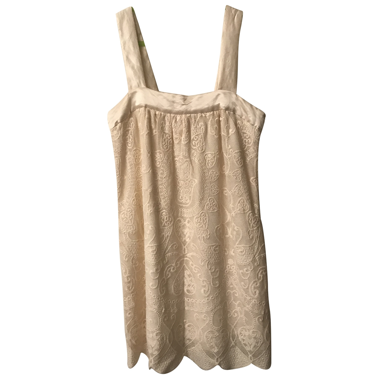 Manoush \N Kleid in  Ecru Spitze