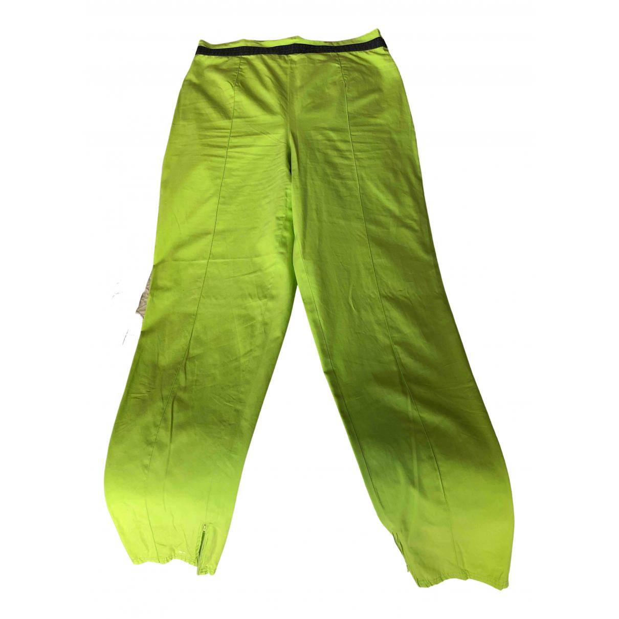Pantalon en Algodon Verde Versace Jeans