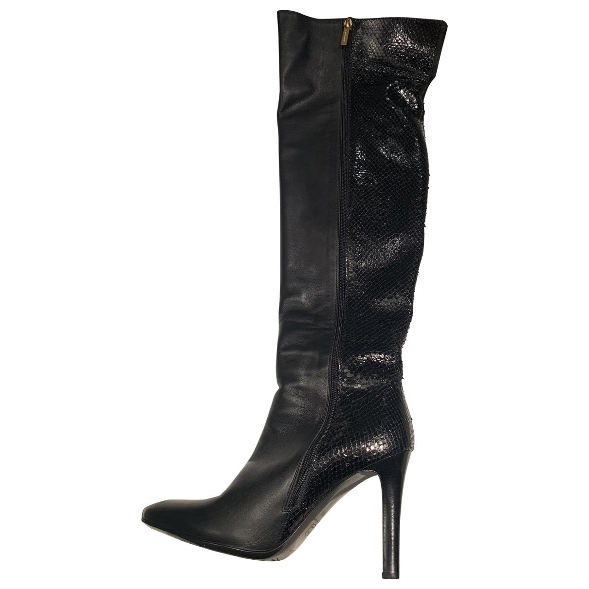 Lk Bennett \N Black Leather Boots for Women 39.5 EU