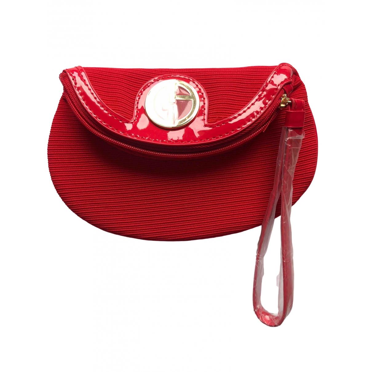 Giorgio Armani \N Red Cloth Clutch bag for Women \N