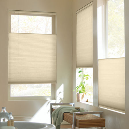 Home Expressions Top-Down/Bottom-Up Cordless Cellular Shade - FREE SWATCH, One Size , Beige