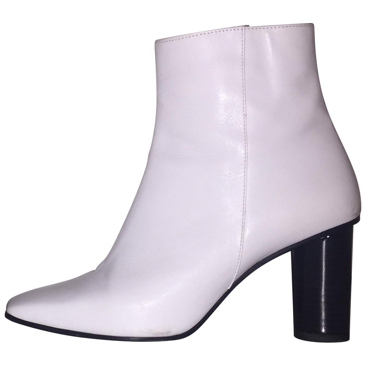Barbara Bui - Boots   pour femme en cuir - blanc