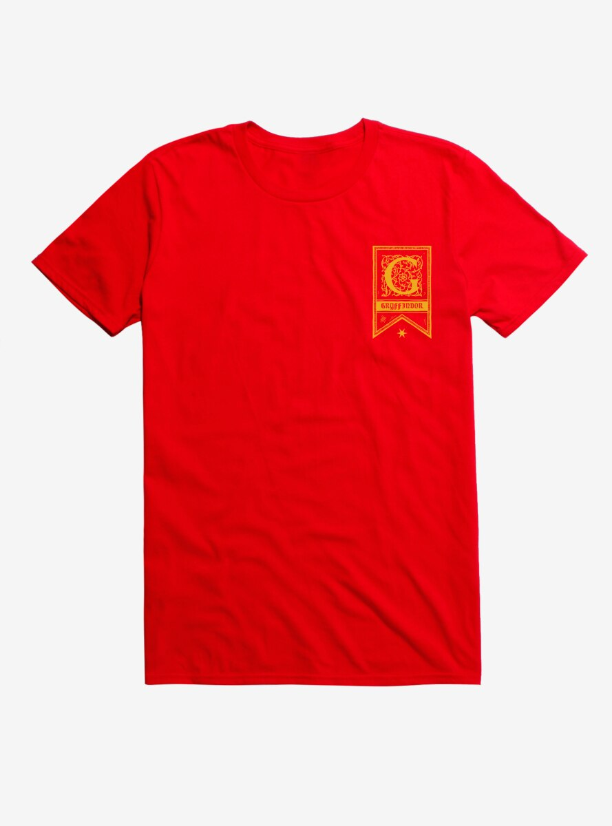 Harry Potter Gryffindor Flag Logo T-Shirt