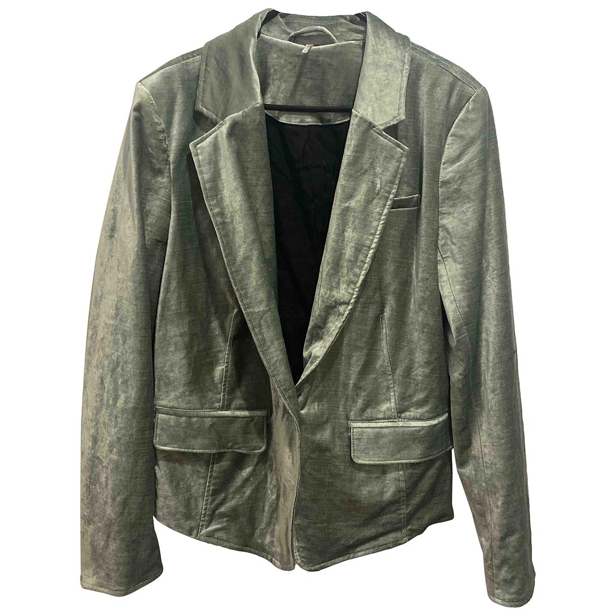 Free People N Green Velvet jacket for Women L International