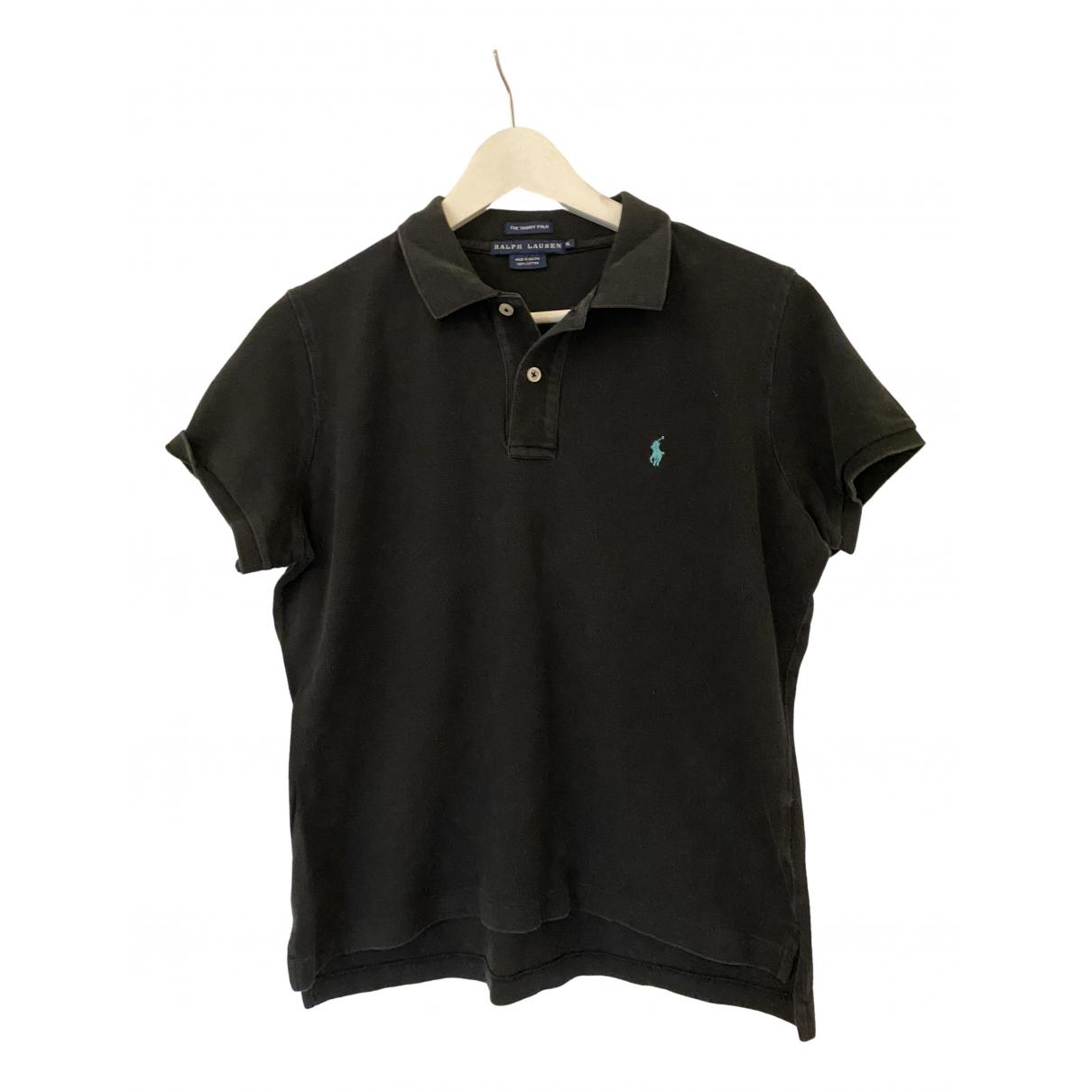 Polo Ralph Lauren Polo cintré manches courtes Black Cotton  top for Women XL International