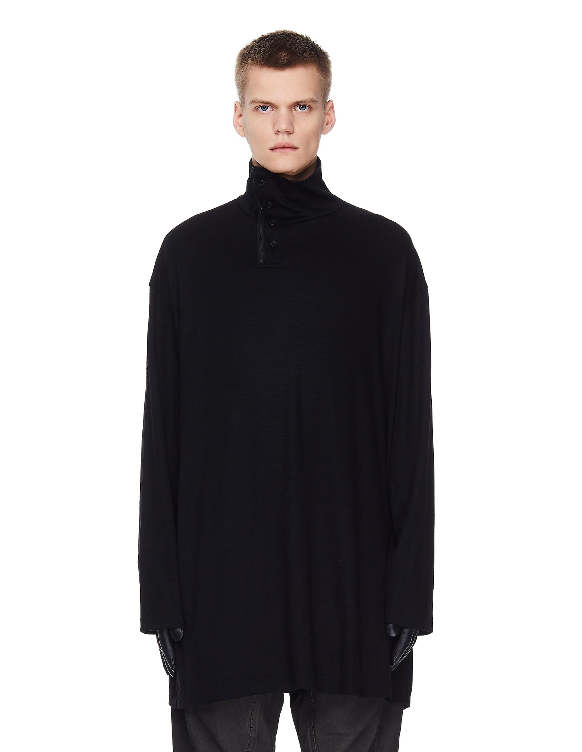Yohji Yamamoto Black Oversize Turtleneck