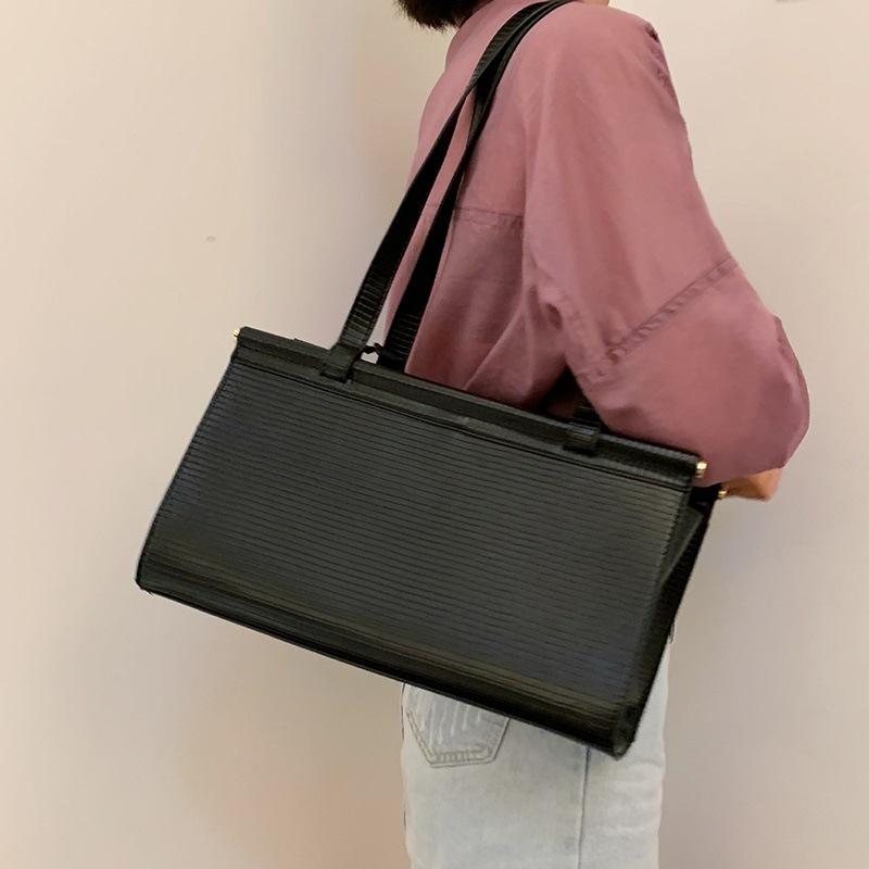 Ericdress Plain PU Thread Rectangle Shoulder Women's Bags