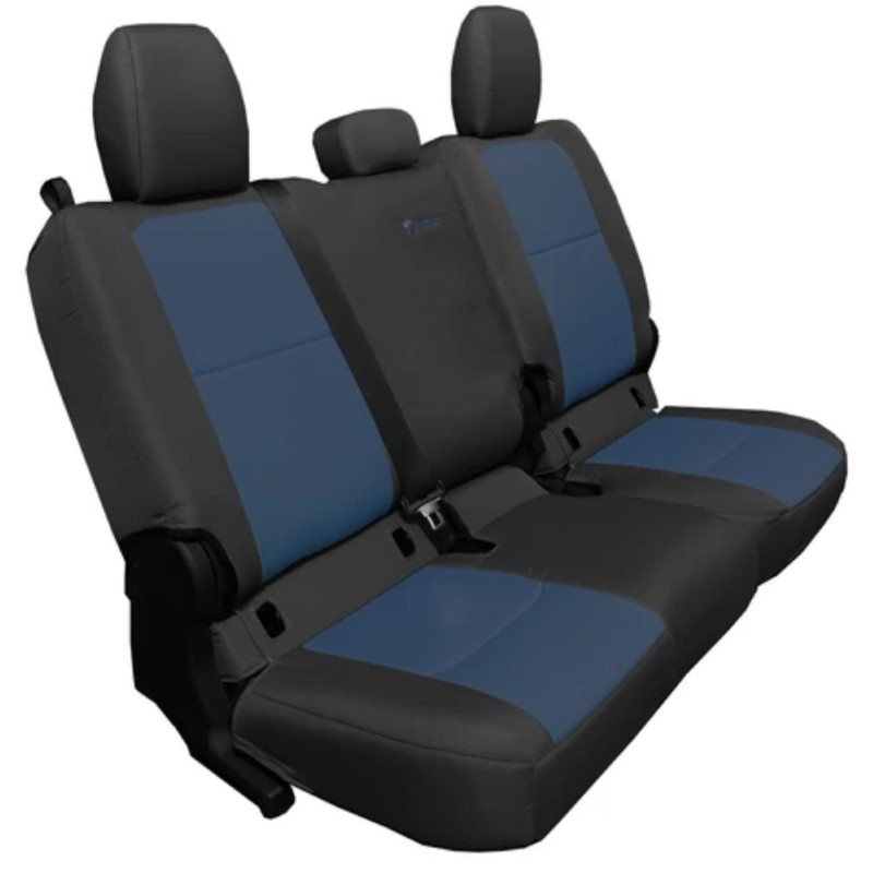 Bartact JTSC20194FBT Rear 4 Door Seat Covers 2019 and Up Jeep Gladiator Black/Navy Without Arm Rest