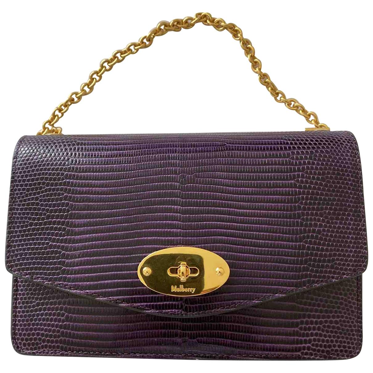 Mulberry - Sac a main   pour femme en cuir - violet
