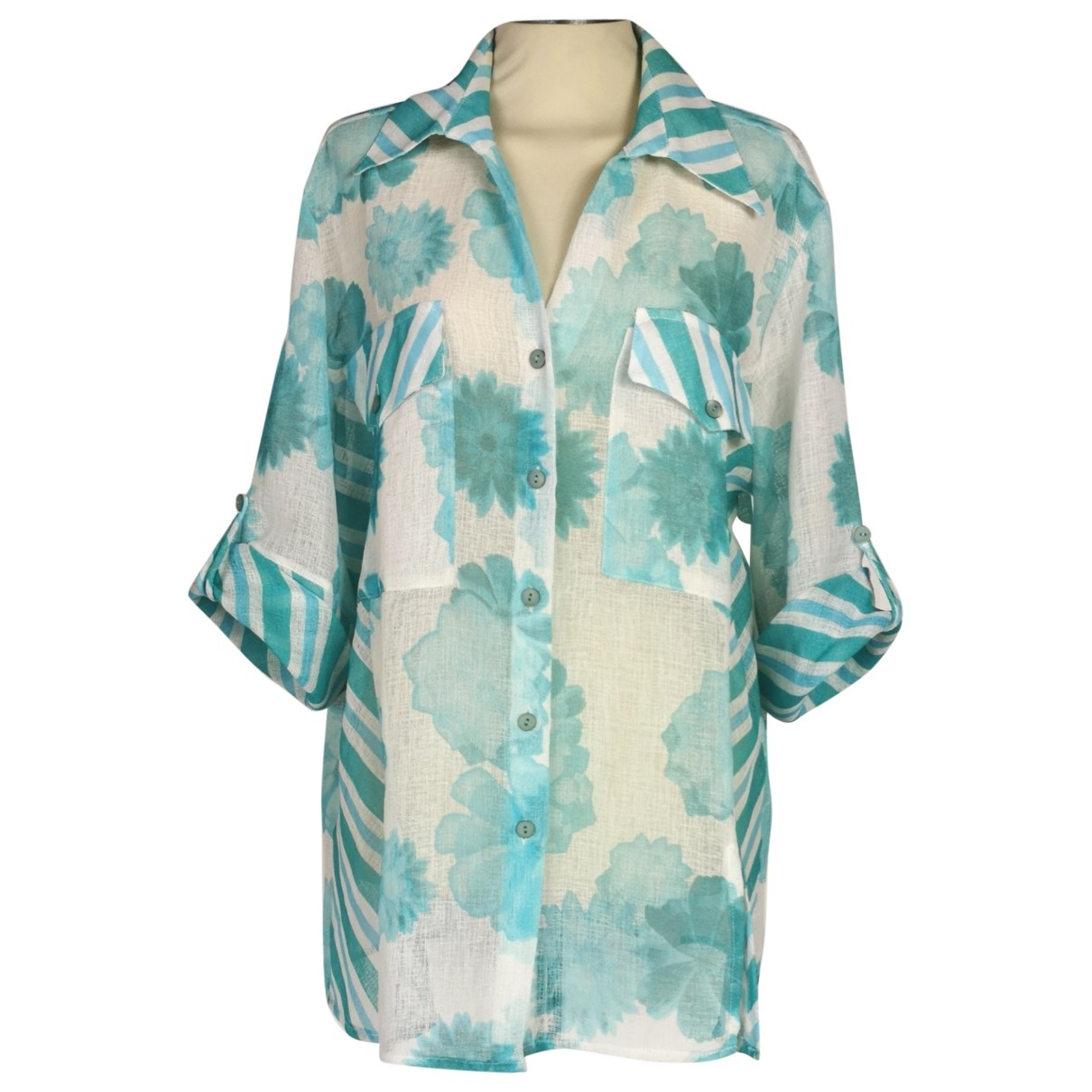 Non Signé / Unsigned \N Turquoise  top for Women 50-52 IT
