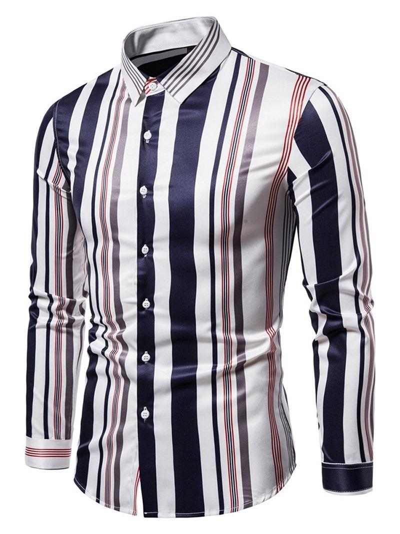 Ericdress Stripe Casual Print Loose Shirt