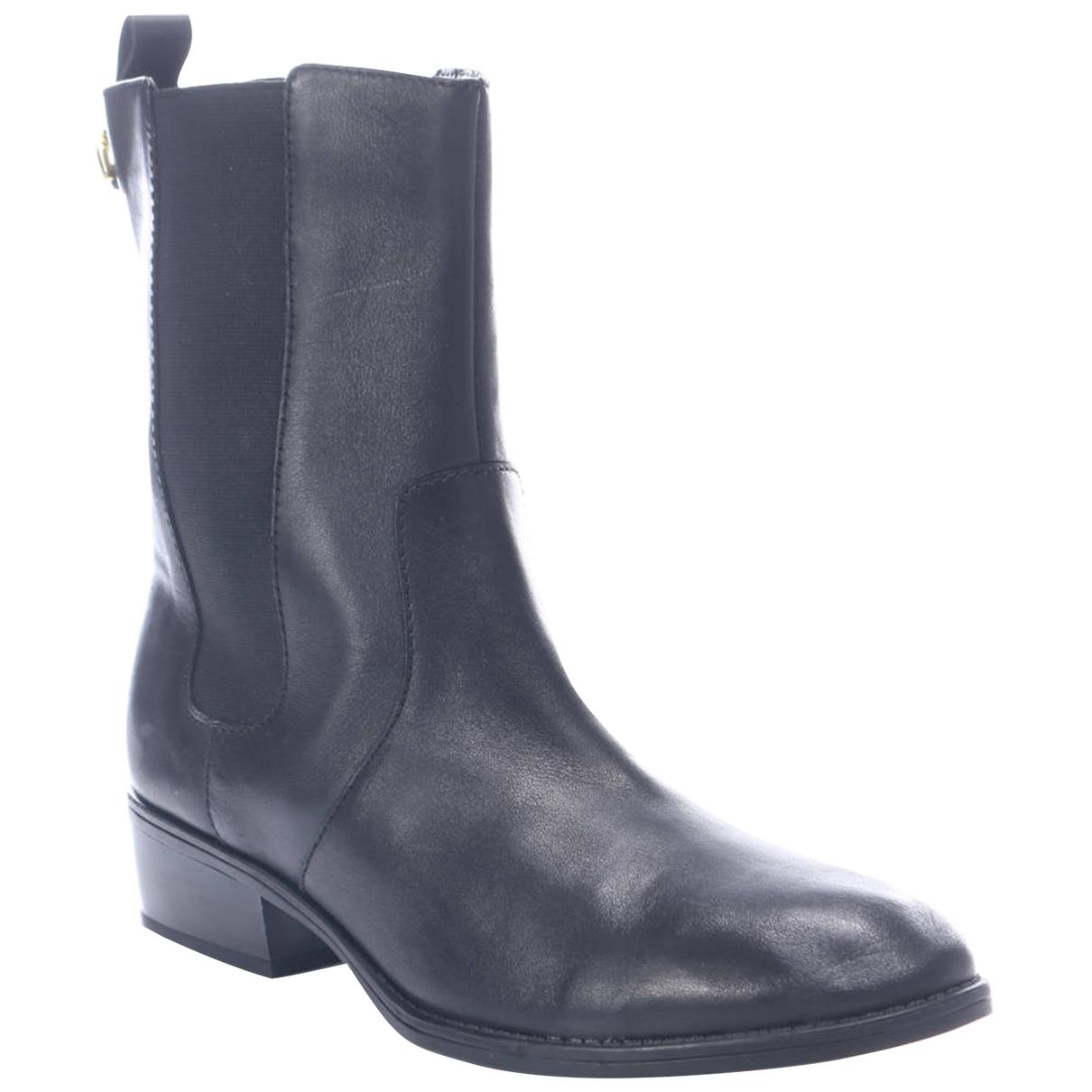 Lauren Ralph Lauren \N Stiefel in  Schwarz Leder