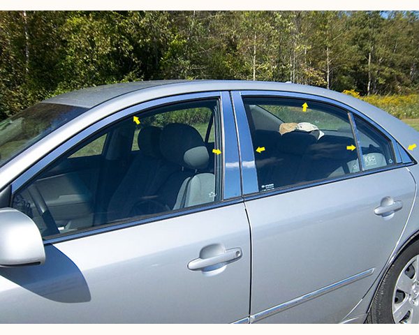 Quality Automotive Accessories 12-Piece Window Package with Pillars Hyundai Sonata 2006