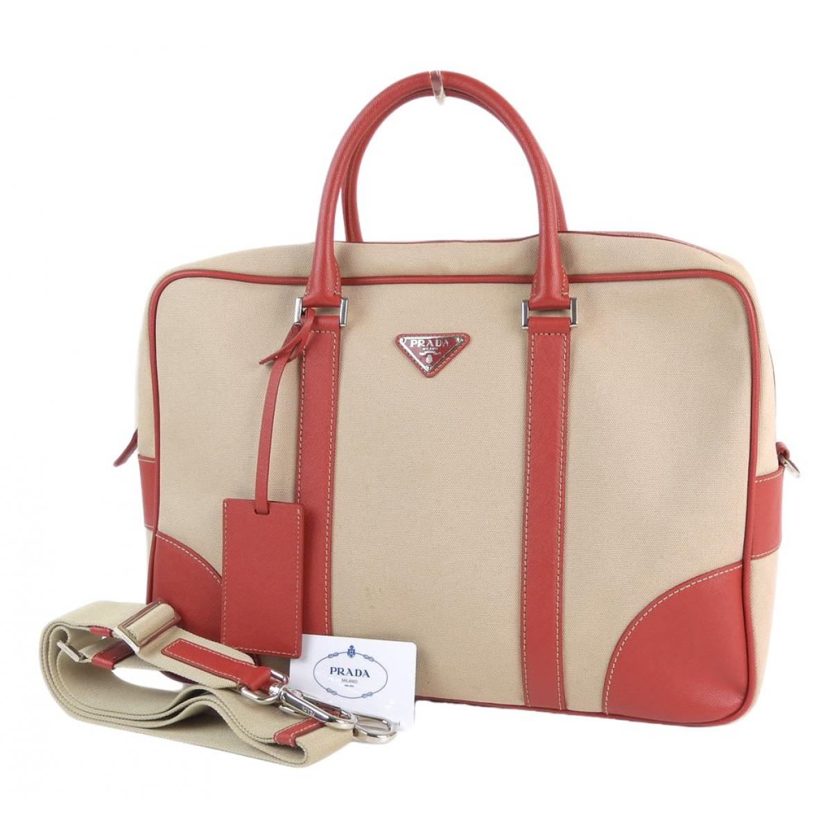 Prada \N Beige Cloth Travel bag for Women \N
