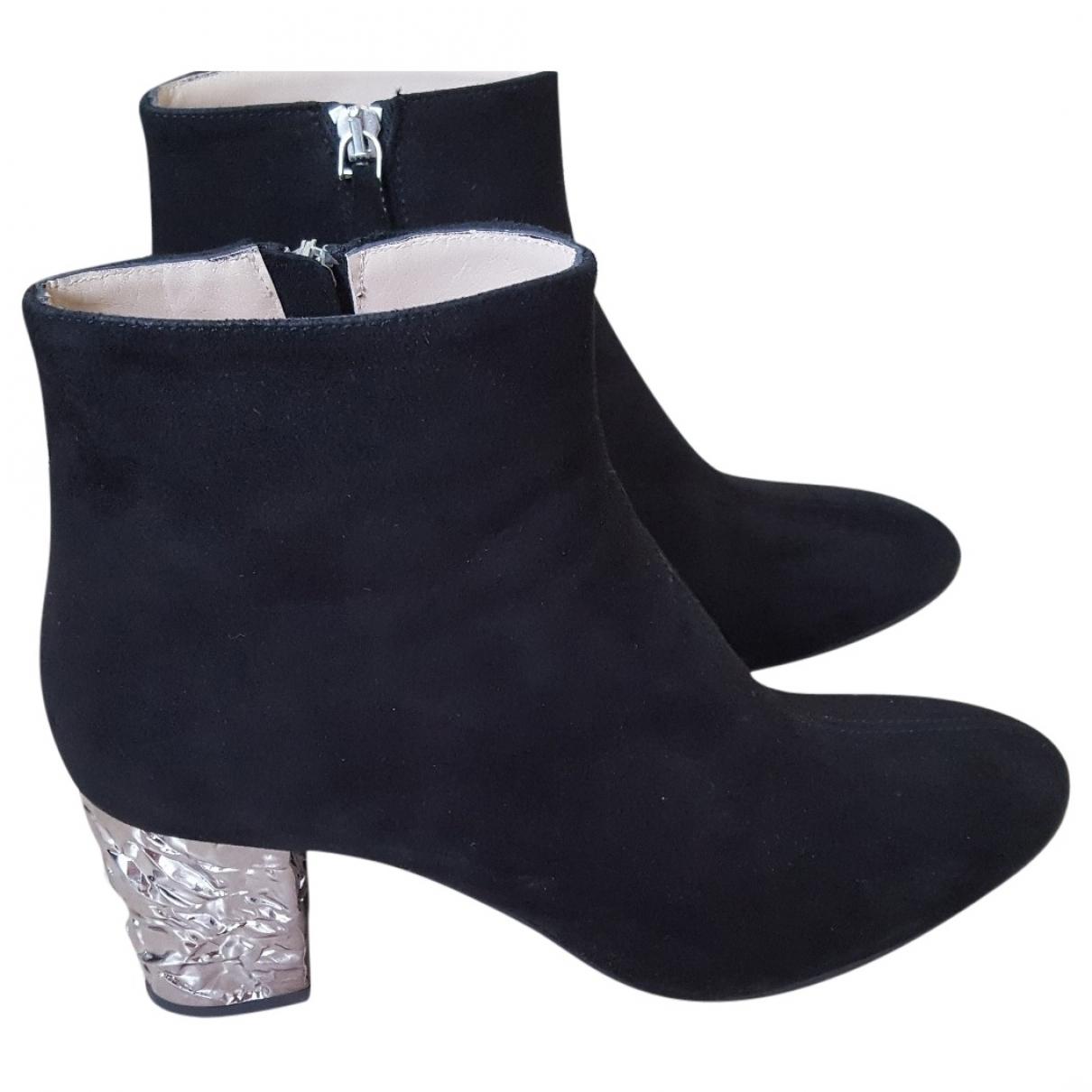 Roberto Festa \N Black Suede Ankle boots for Women 40 EU