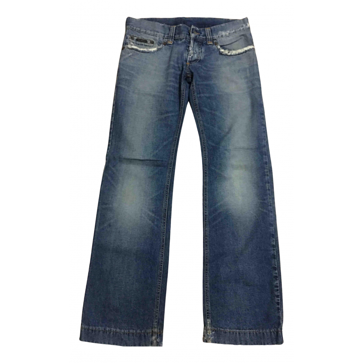 Dolce & Gabbana - Jean   pour homme en coton - bleu