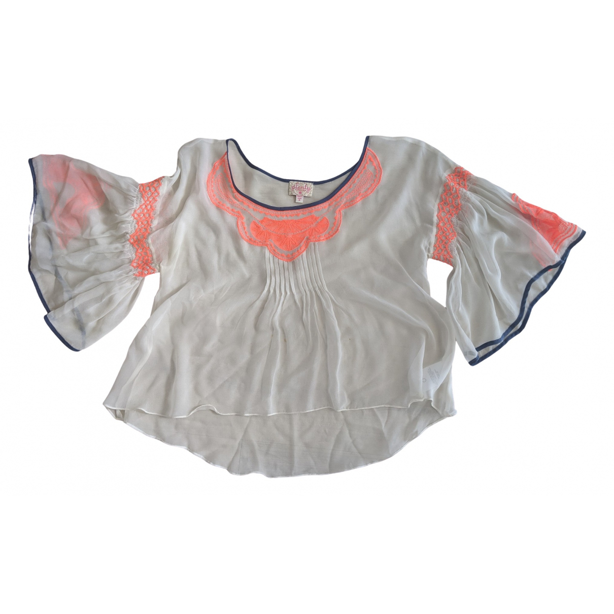 Non Signé / Unsigned \N White Silk  top for Women M International